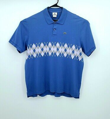 Lacoste Polo Shirt Adult XXXL Size 8 Blue Crocodile Casual Rugby Mens