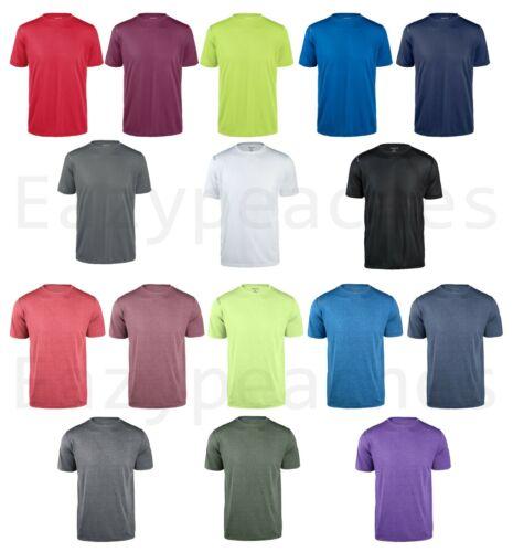 Reebok Mens 100% Polyester dri-fit T-shirt Work out Gym S-3XL, 4XL 5XL Sport Tee