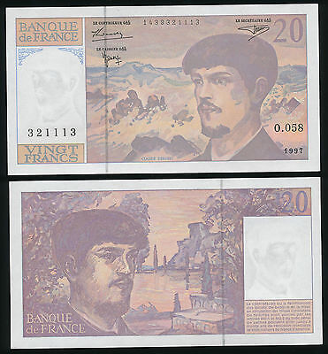 Frankreich Banque de France 20 Francs 1997 - O. 058  Pick: 151i  UNC Banknote