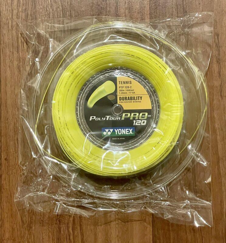 Yonex Poly Tour Pro 17g Reel (1.20mm PTP 120 Tennis String) Full 200m 656ft. New