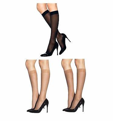 Super-shine-gloss (Ladies 15 Denier Sheer Super Shine Knee Highs Pop Socks High Shine with Spandex)
