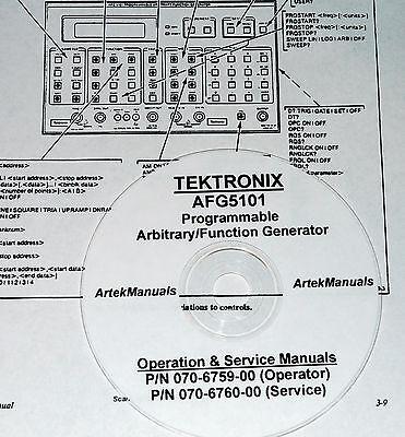 Tek Afg5101 Afg5501 Service Operators Manuals 2 Vols.