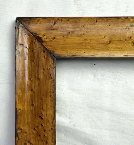"""ANTIQUE FITS 20 3/4"""" X 25 3/4"""" MID 19c BIRDSEYE CURLY MAPLE VENEER PICTURE FRAME"""
