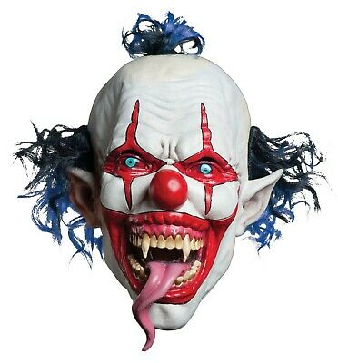 Morbid Enterprises Snake Tongue Evil Scary Clown Halloween Costume Mask - Morbid Halloween Masks