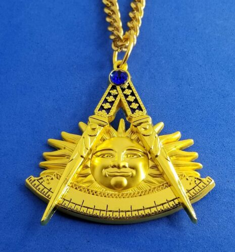 PAST MASTER JEWEL MEDAL MASONIC AWESOME TRADITIONAL W/CHAIN (PMJ-TRAD-CHN)