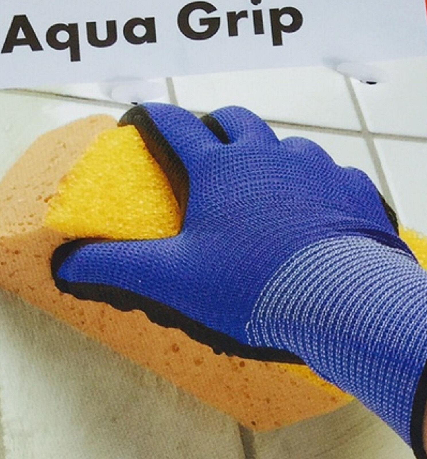 AQUA Grip Handschuhe Gr. 8 / 9 / 10 Arbeitshandschuhe wasserabweisend Handschutz