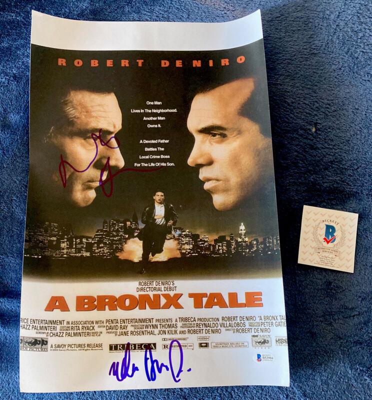 Robert Deniro De Niro hand-signed autographed Bronx Tale poster +1 cast Beckett