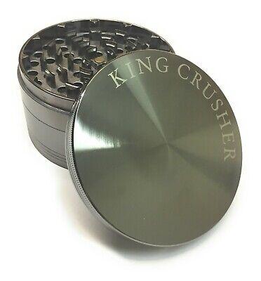 King Crusher Big 4 Inch 4 Piece Tobacco Herb Spice Alloy Smoke Grinder US Seller Big Smoke Cigar