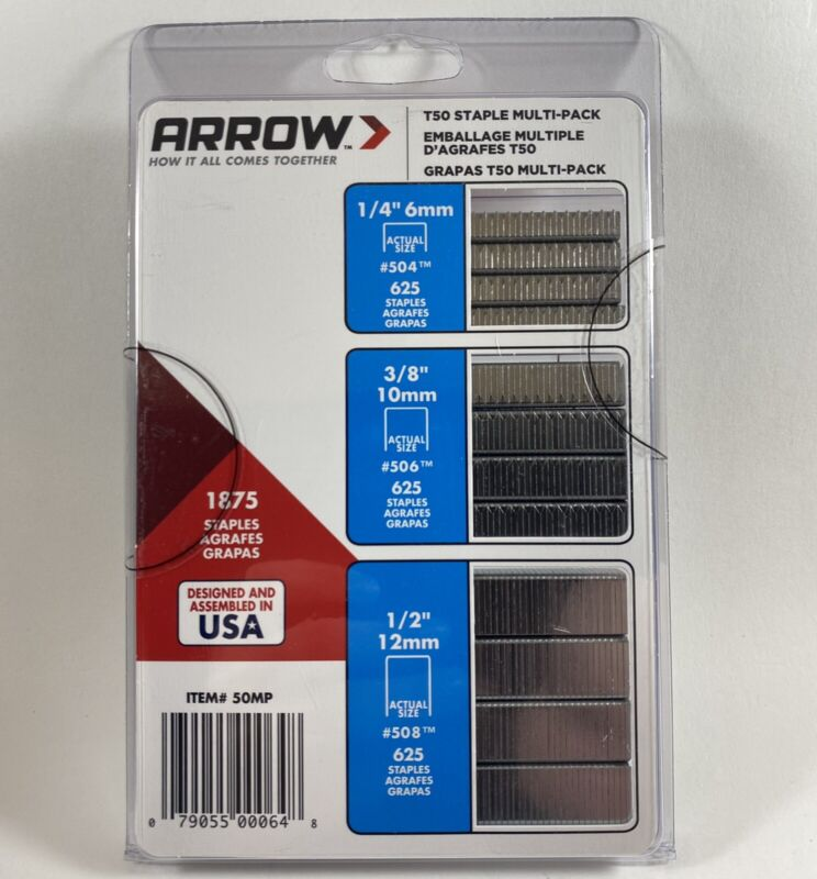 Arrow Heavy Duty T50 Staples Assorted Multi-Pack - FREE Shipping