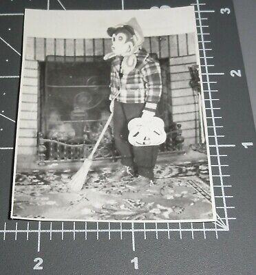 Halloween Pumpkins Photos (1940's MICKEY MOUSE COSTUME MASK Disney HALLOWEEN Pumpkin Bag Vintage)