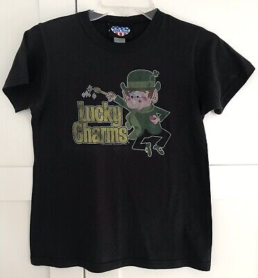Vintgage Junk Food T-Shirt Lucky Charms Cereal Size L