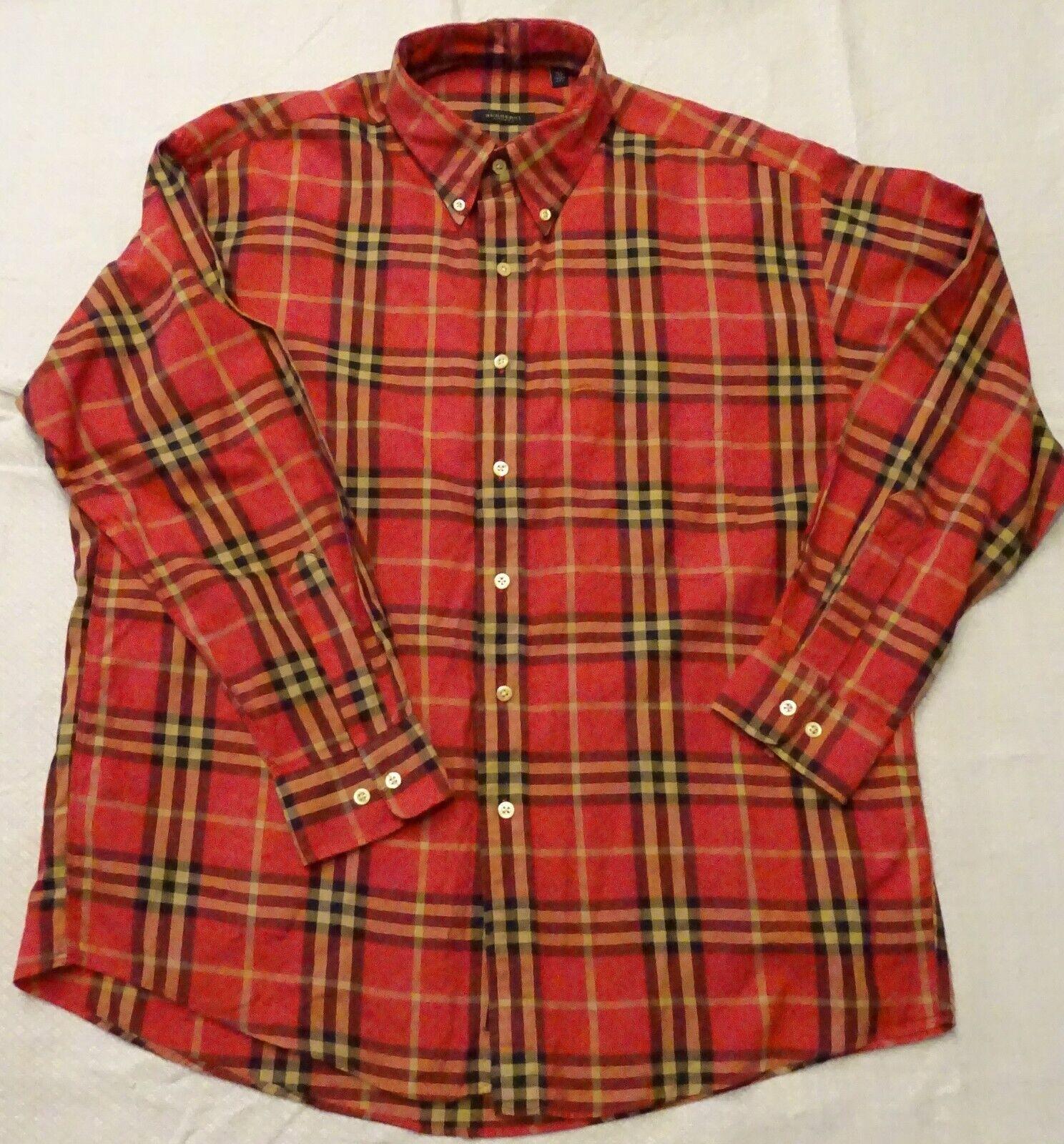 Chemise burberry xl rouge à carreau
