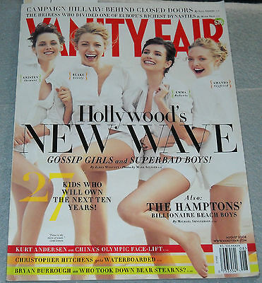 Vanity Fair Magazine August 2008 Blake Lively Emma Roberts Amanda Seyfried