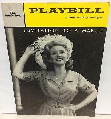 Nov. 1960 INVITATION TO A MARCH The Music Box JANE FONDA CELESTE HOLM