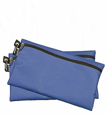 Zipper Bags Poly Cloth Value Package of 2 Bags (Blue) Organize Tools Money Etc.