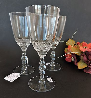 Vintage Lot of 3 crystal Duncan & Miller  Stemware Teardrop pattern