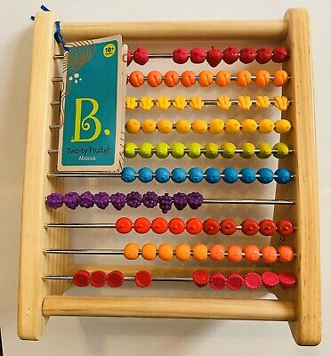 B. by Battat Two-ty Fruity Wooden Abacus Counting Learning Toy