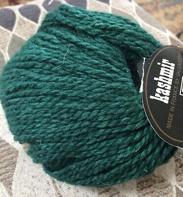 Tahki Kashmir Aran Yarn Emerald Green  Huge Lot By Skein Merino Cashmere -