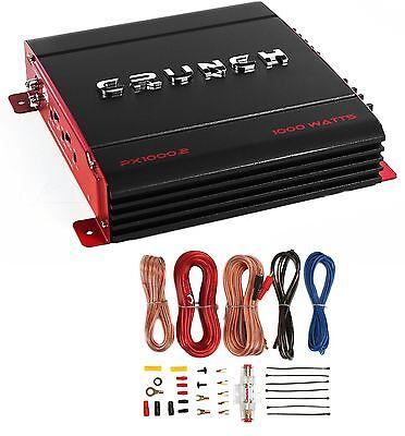 Crunch PX-1000.2 2 Canal 1000 Watt Amp A / B Amplificador estéreo de carro + Kit de fiação