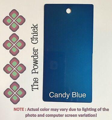 Candy Blue 4943600 Powder Coating Paint 1lb Bag New