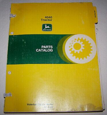 John Deere 4040 Dealer Parts Catalog Pc-1610