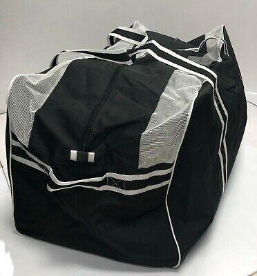 "New heavy duty Sr ice hockey player gear bag senior 38"" in equipment carry black"