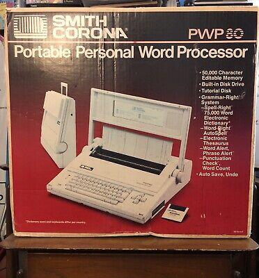Smith Corona Pwp 80 Word Processor Typewriter 1988 - Brand New