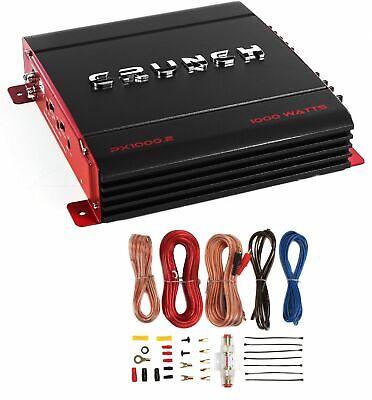 1000.2 2チャネル1000ワットアンプA / Bカーステレオアンプ+配線キットCrunch PX