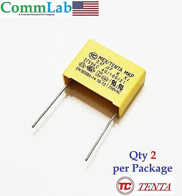 0.47uf 275v Polypropylene Safety Capacitor P20 2 Pieces .47uf