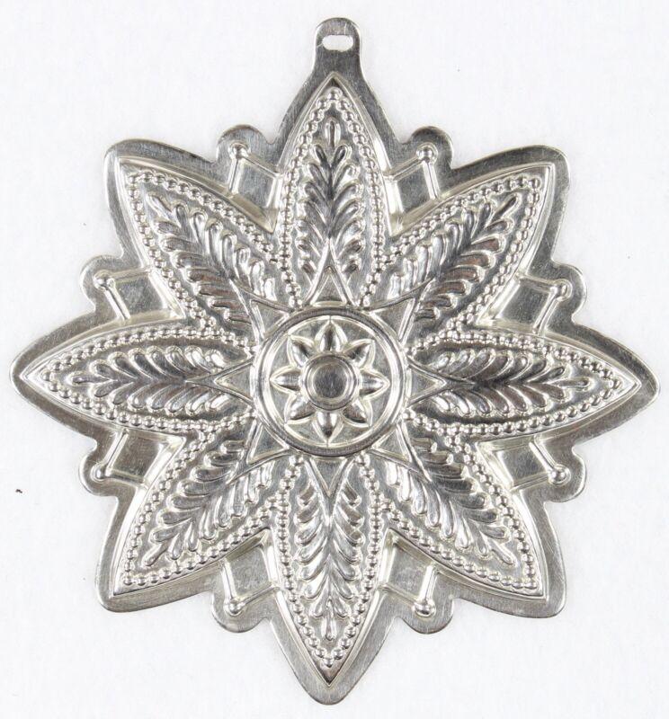 2000 REED & BARTON Millennium  Sterling Silver Snowflake Christmas Ornament #33