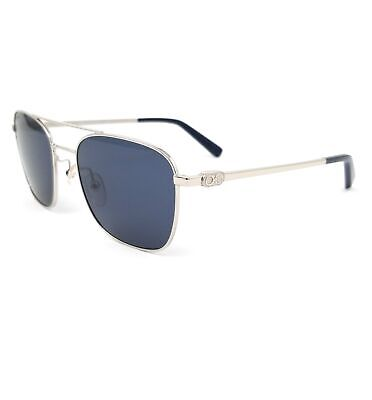 Salvatore Ferragamo Sunglasses SF158S 045 Silver Aviator Mens 53x18x140