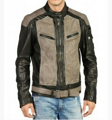 Diesel Mens Leather Jacket XL