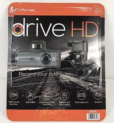 "Cobra CDR 840 VP HD Drive HD 1080P Full HD Dash Cam w/8GB Micro SD Card ""TESTED"""