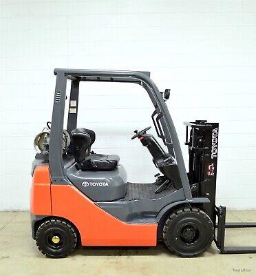 Clean 2010 Toyota 3000 Lb Lpg Pneumatic Forklift 3000 Lb 8fgu15 Air Tires