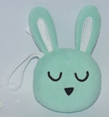 BATH & BODY WORKS TEAL EASTER BUNNY EARS SHOWER SPONGE LOOFAH POUF SOFT STRAP for sale  Shipping to India