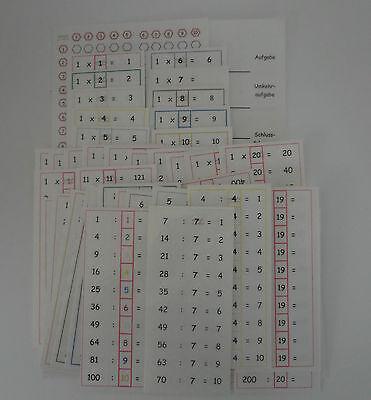 1x1 bis 20 ~ Einmaleins bis 20 ~ 46 Lernkarten MONTESSORI Dyskalkulie Mathematik ()