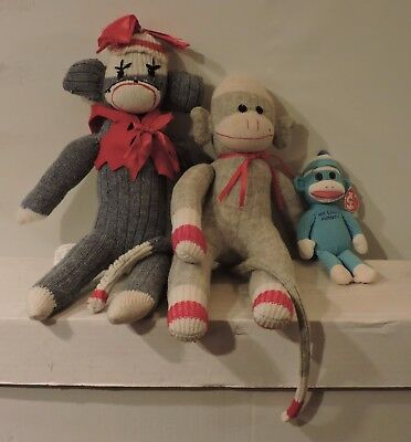 "Used, sock puppets family 20""mom 21""dad and 9""junior for sale  New Hamburg"