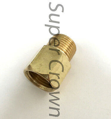 M16*1.5 x NPT3/8 (Female x Male)Brass Thread Reducer Coupling Pipe Fitting Gauge