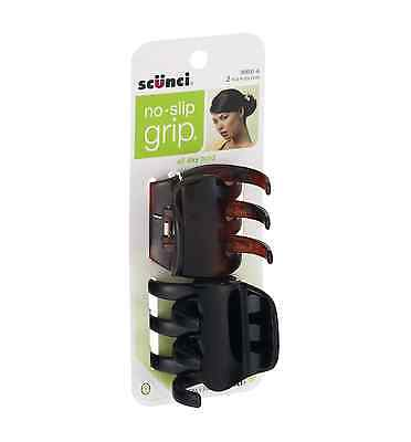 Scunci No-Slip Grip Chunky Jaw Clips | All Day Hold | 2-Piec