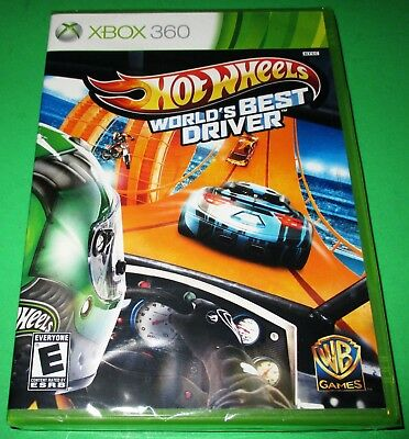 Hot Wheels: World's Best Driver Xbox 360 *New! *Factory Sealed! *Free (Best Xbox Racing Wheel)