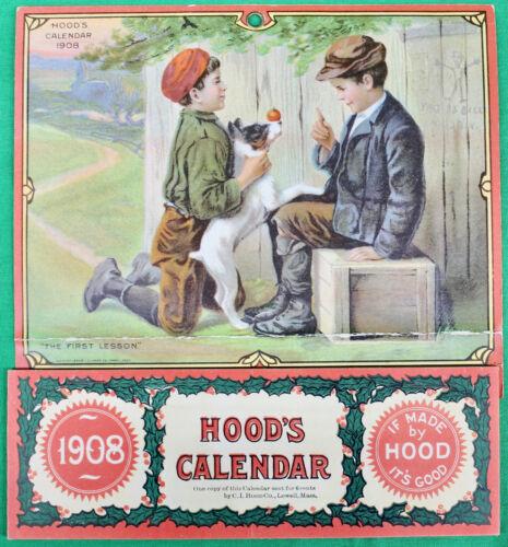 Original 1908 Hood's Calendar Never Used