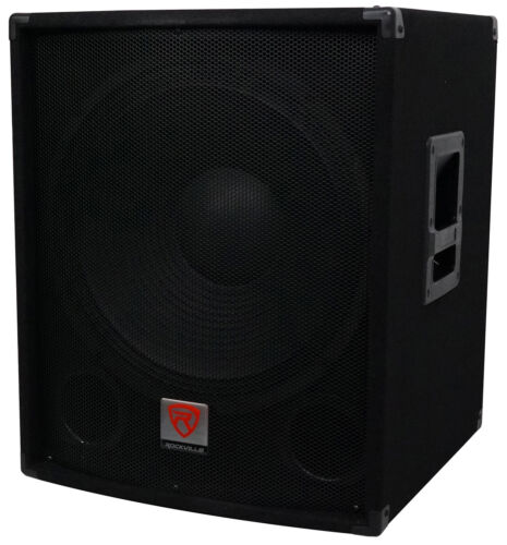 "Rockville SBG1184 18"" 1000 Watt Passive 4-Ohm Pro DJ Subwoof"