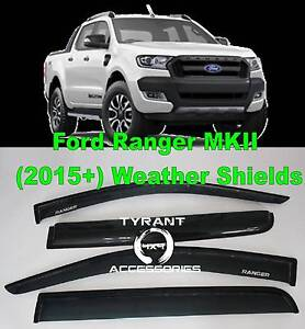 Ford Ranger PX & PX2 MK2 MKII Weathershields Weather shields rain Kings Park Blacktown Area Preview