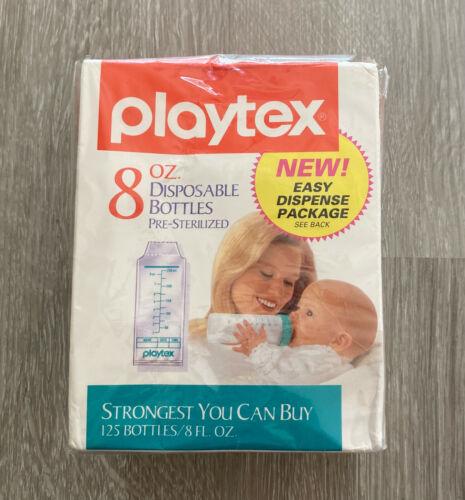 Vintage Playtex 8 oz Disposable Bottle Bags Pre-Sterilized 125 Nurser Liners NOS