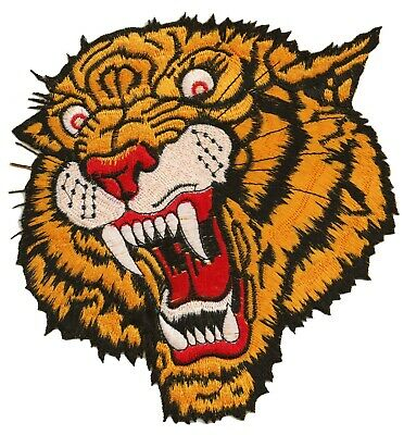 Backpatche Escudo Parche Tigre Espalda Grandes Tamaño Termoadhesivo