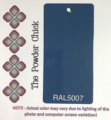Ral 5007 4942250 Brilliant Blue Powder Coating Paint 1lb Bag New