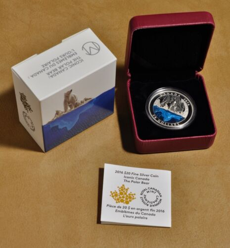 2016 Iconic Canada: The Polar Bear $20 Fine Silver Coin