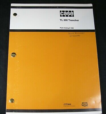 Case Davis Tl200 Trimline 200 Trencher Parts Manual Book Catalog Oem