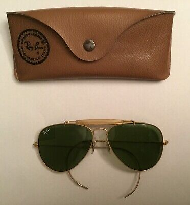 VINTAGE 58[]14MM B&L RAY BAN MADE IN USA OUTDOORSMAN AVIATOR (Ray Ban Made In Usa)