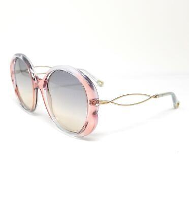 CHLOE Sunglasses CE739S 438 Iridescent Blue-Rose Round Women's (Blue Sunglasses Women)